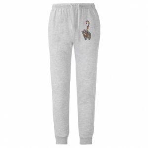 Spodnie lekkie męskie Noworoczny kot