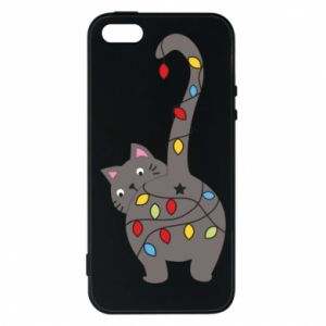 Etui na iPhone 5/5S/SE Noworoczny kot