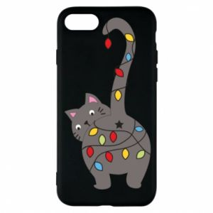 Phone case for iPhone 8 New Year's cat