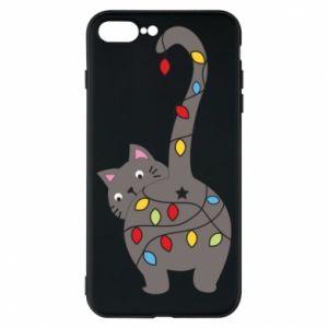Etui na iPhone 8 Plus Noworoczny kot