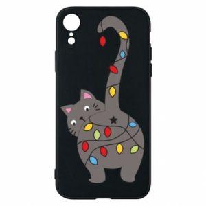 Etui na iPhone XR Noworoczny kot
