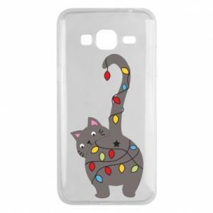Etui na Samsung J3 2016 Noworoczny kot