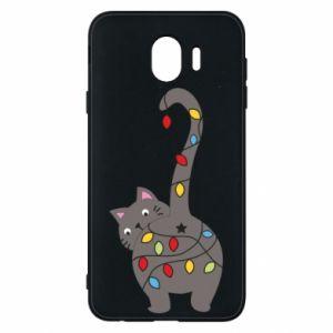 Etui na Samsung J4 Noworoczny kot