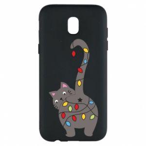 Etui na Samsung J5 2017 Noworoczny kot