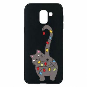 Etui na Samsung J6 Noworoczny kot