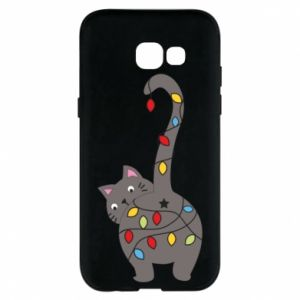 Phone case for Samsung A5 2017 New Year's cat