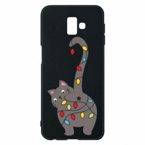 Etui na Samsung J6 Plus 2018 Noworoczny kot