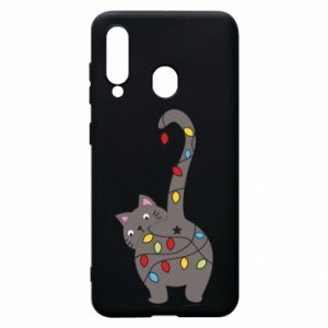 Phone case for Samsung A60 New Year's cat