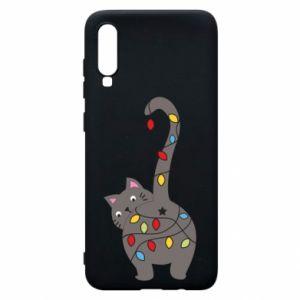 Etui na Samsung A70 Noworoczny kot