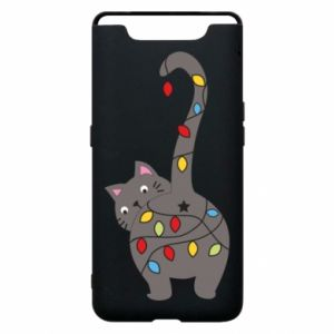 Etui na Samsung A80 Noworoczny kot