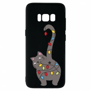 Phone case for Samsung S8 New Year's cat