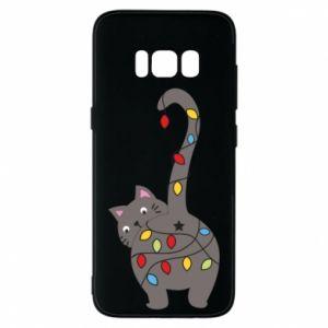 Etui na Samsung S8 Noworoczny kot