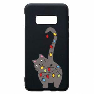 Etui na Samsung S10e Noworoczny kot