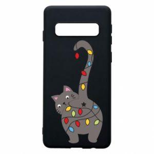 Etui na Samsung S10 Noworoczny kot