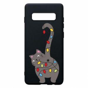 Etui na Samsung S10+ Noworoczny kot