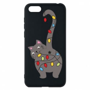 Phone case for Huawei Y5 2018 New Year's cat