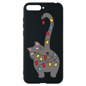 Phone case for Huawei Y6 2018 New Year's cat