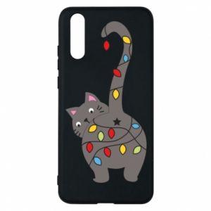 Etui na Huawei P20 Noworoczny kot