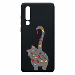 Etui na Huawei P30 Noworoczny kot