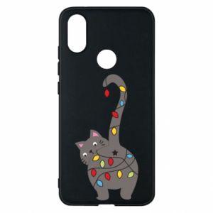 Etui na Xiaomi Mi A2 Noworoczny kot