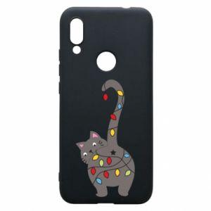 Etui na Xiaomi Redmi 7 Noworoczny kot