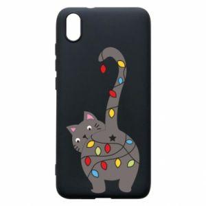 Etui na Xiaomi Redmi 7A Noworoczny kot