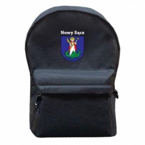 Plecak z przednią kieszenią Nowy Sącz. Herb.