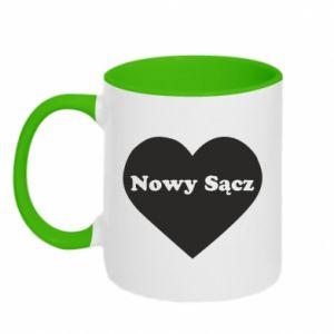 Kubek dwukolorowy Kocham Nowy Sącz - PrintSalon