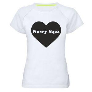 Damska koszulka sportowa Kocham Nowy Sącz - PrintSalon
