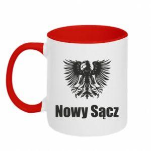 Kubek dwukolorowy Nowy Sącz - PrintSalon