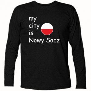 Koszulka z długim rękawem My city is Nowy Sacz - PrintSalon