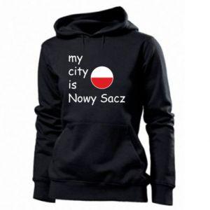 Damska bluza My city is Nowy Sacz