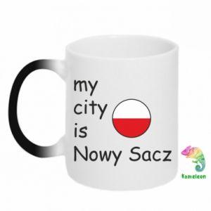 Kubek-kameleon My city is Nowy Sacz