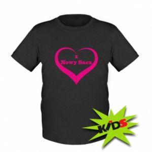 Dziecięcy T-shirt Napis - I love Nowy Sacz