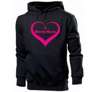 Men's hoodie Inscription - I love Nowy Sacz