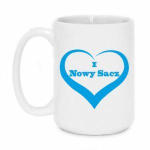Kubek 450ml Napis - I love Nowy Sacz - PrintSalon