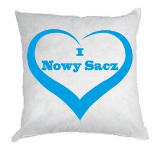 Poduszka Napis - I love Nowy Sacz