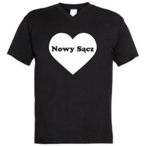 Męska koszulka V-neck Kocham Nowy Sącz