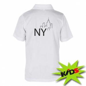 Dziecięca koszulka polo NY city