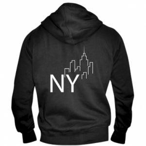 Men's zip up hoodie NY city