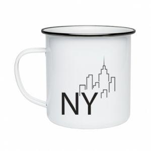Kubek emaliowany NY city