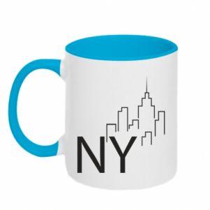 Kubek dwukolorowy NY city
