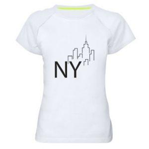 Koszulka sportowa damska NY city