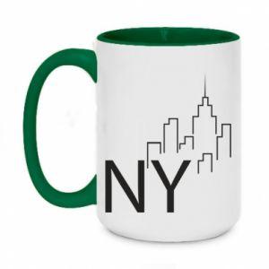 Two-toned mug 450ml NY city