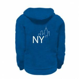 Bluza na zamek dziecięca NY city