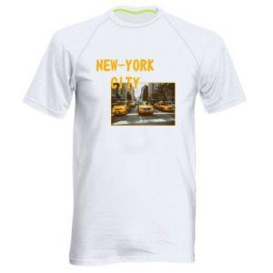 Męska koszulka sportowa NYC - PrintSalon