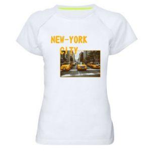 Damska koszulka sportowa NYC - PrintSalon