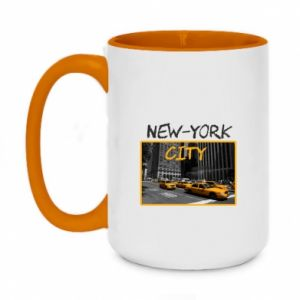 Two-toned mug 450ml NYC