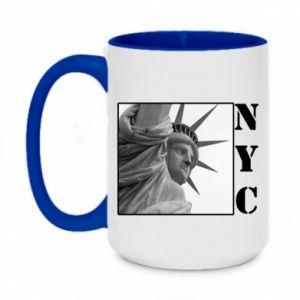 Two-toned mug 450ml NYC