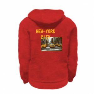Kid's zipped hoodie % print% NYC